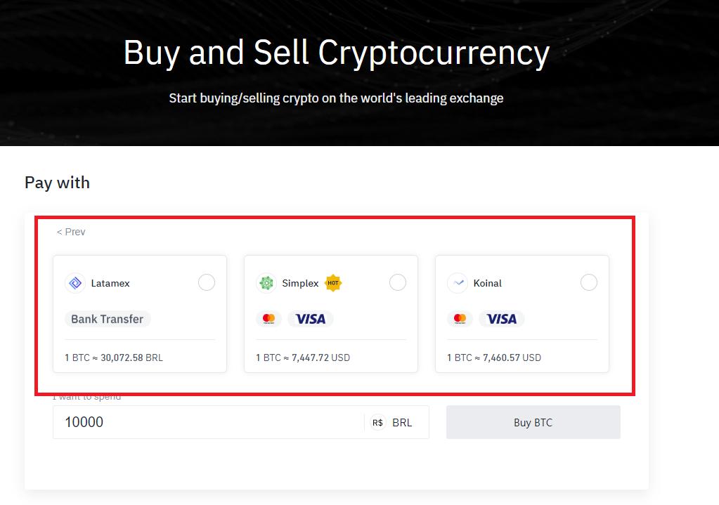 Preço do Bitcoin